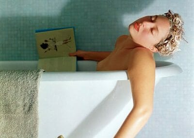 Daniela Edburg, Death by Shampoo , 2001, Archival ink print, Edition 7 of 10 + 1 AP, 40 x 30 inches