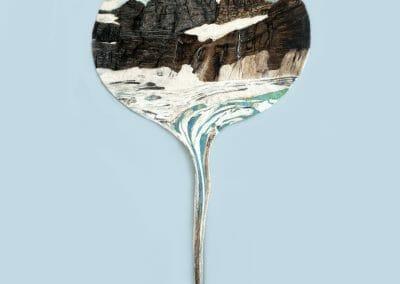Daniela Edburg, Grinnell and Salamander Glaciers, 2021, Felted Wool, 63 x 35.5 inches