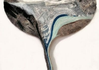Daniela Edburg, Sourdough Glacier, 2021, Felted Wool, 31 3/8 x 23 1/2 inches